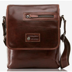 Jekyll & Hide Oxford Leather Tablet Crossbody Bag, Tobacco