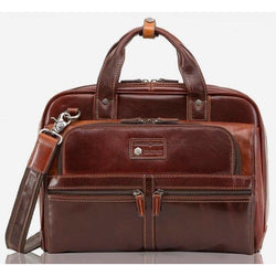 Jekyll & Hide Oxford Leather Laptop Bag | Tobacco