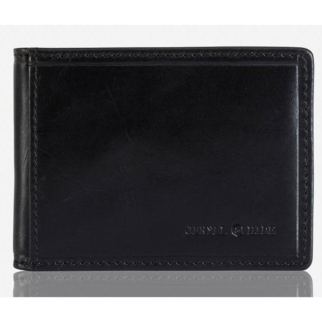 Jekyll & Hide Oxford Slim Leather Card & Note Wallet Black - iBags.co.za