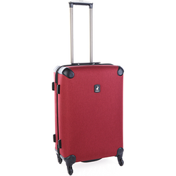 Polo Double Pack Medium 4 Wheel Trolley Case | Red