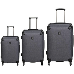 Polo Classic Double Pack Set of 3 Wheeled Trolley Cases | Charcoal