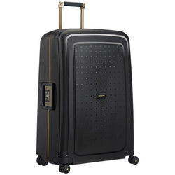 Samsonite S'Cure Dlx Spinner 75cm - Black/Gold