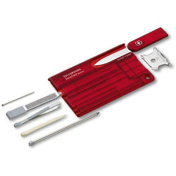Victorinox Quattro Card Transparent Red 82mm