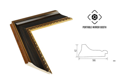 PMB-100 Ebony Gold Frame - Portable Mirror Booth