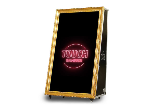 "HOT DEAL* PMB-100 Road Case Mirror Booth DIY Package 55"" or 65"" - Portable Mirror Booth"