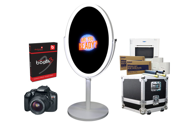 PMB-300 Oval Mirror Booth Premium Package