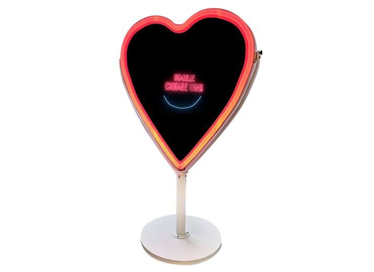 PMB-600 Heart Mirror Booth DIY Package - Portable Mirror Booth