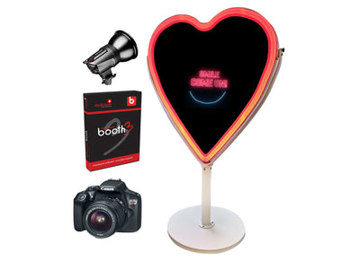 PMB-600 Heart Mirror Booth Starter Package - Portable Mirror Booth