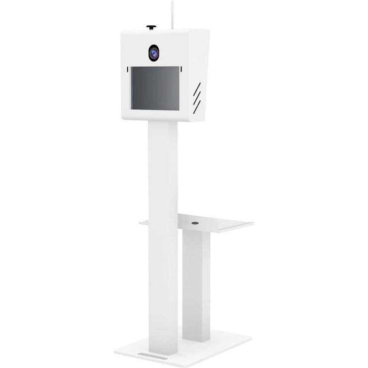 T11 2.5 White Frame Photo Booth With Matching Printer Stand Shell Only