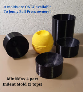 Mini/Max Indent Mold (2 size tops)