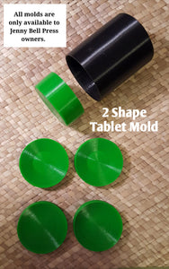 Tablet Mold - (includes 2 shapes)