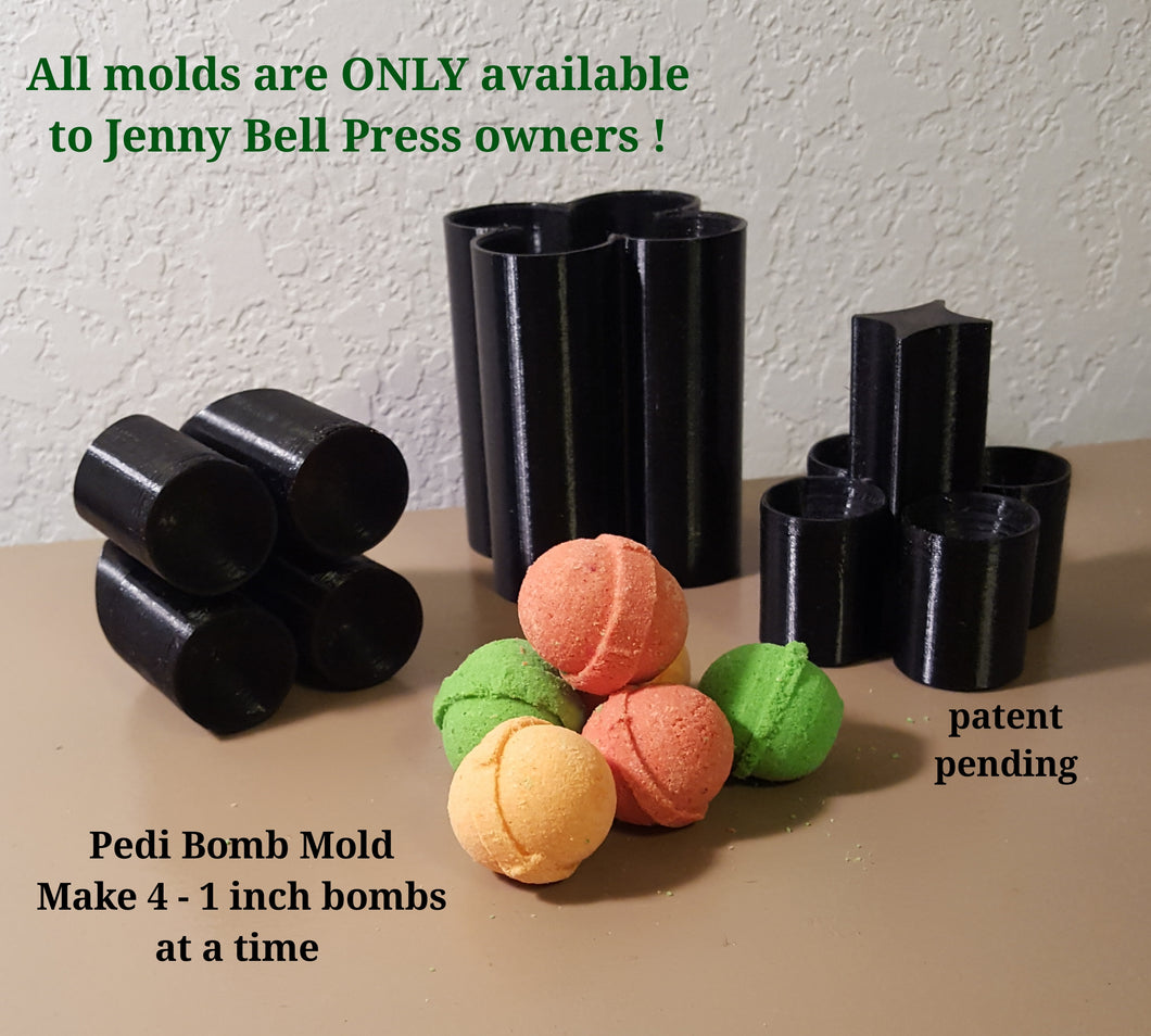 Pedi Bomb Mold - (4 up)