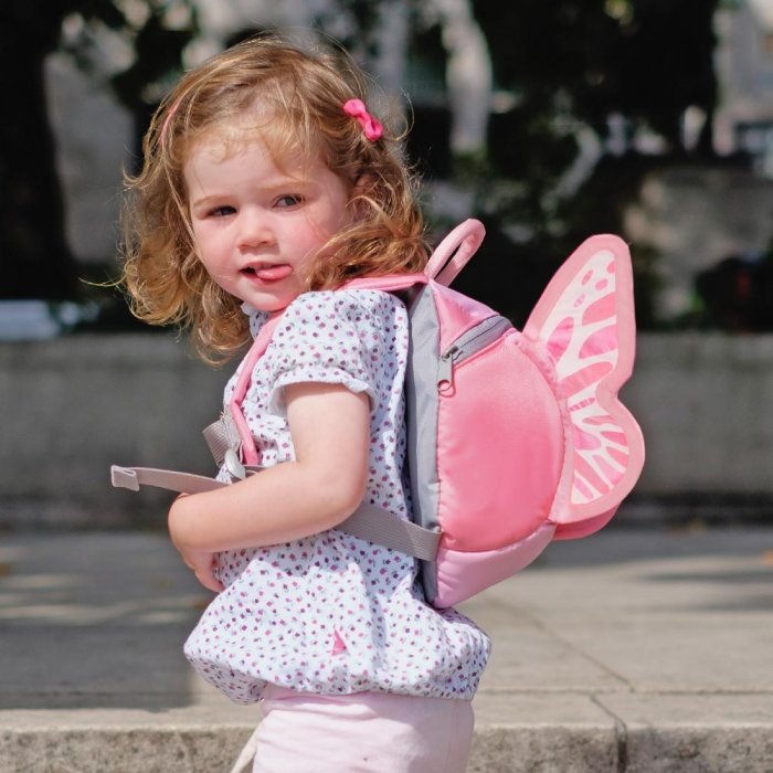 9f4d55253032 LittleLife Butterfly Toddler Backpack with Rein