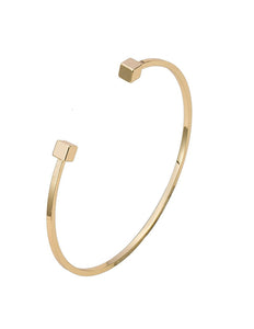 Square End Bangle Gold - PrettyParade