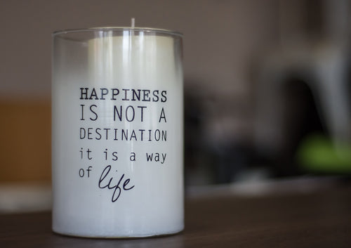 Happiness is Not a Destination Candle