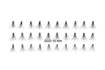 Duo Cluster Lashes available in 8mm/10mm/12mm/14mm