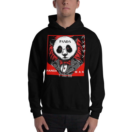 Pandaman - Hooded Sweatshirt - Asobimasu™