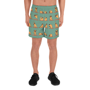 Pug Yoga Men's Athletic Long Shorts