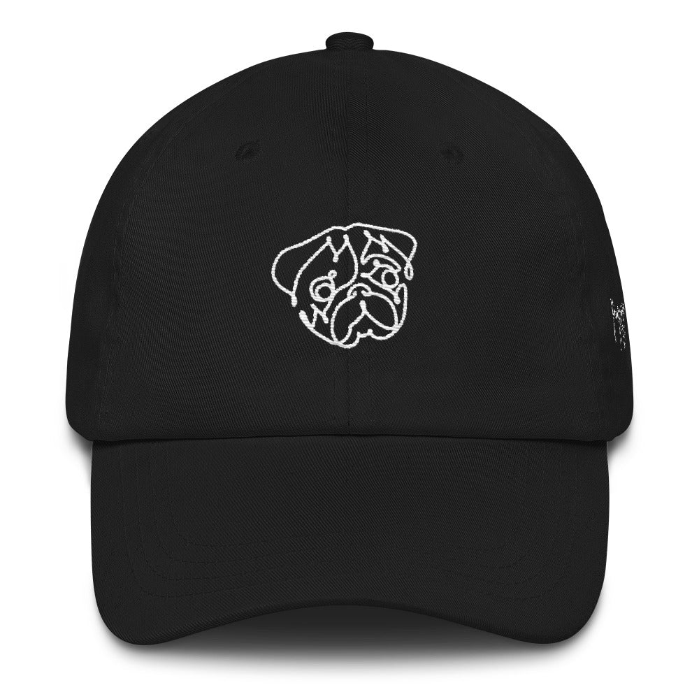 One Line Pug Dad hat