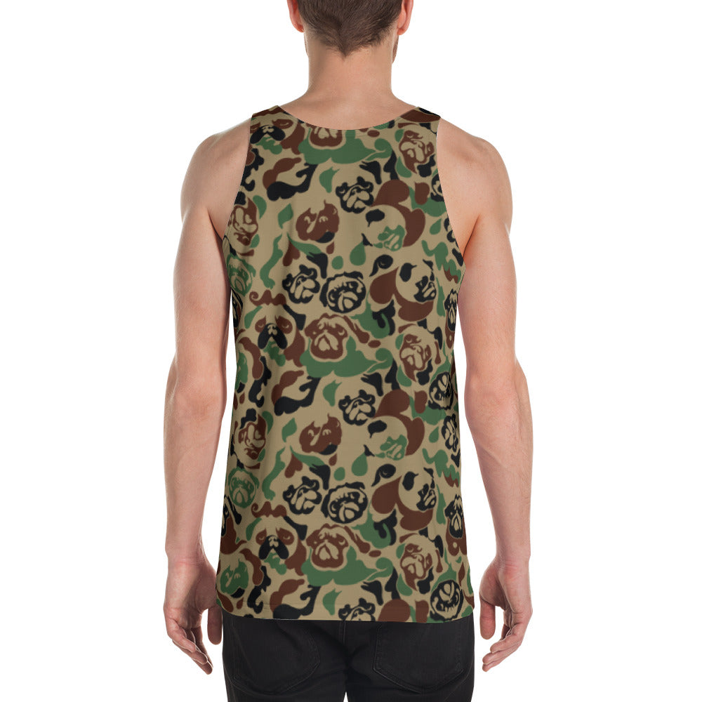 Pug Camouflage Unisex Tank Top
