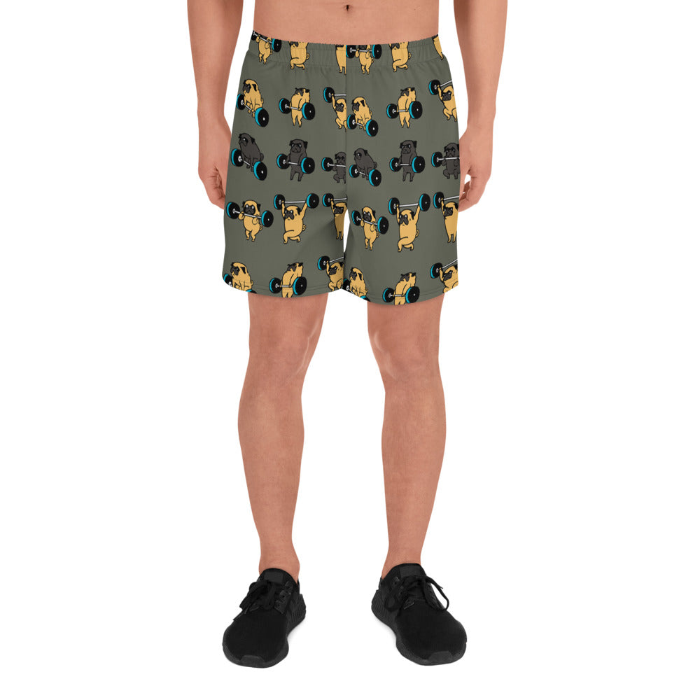 Olympic Lifting Pug Men's Athletic Long Shorts
