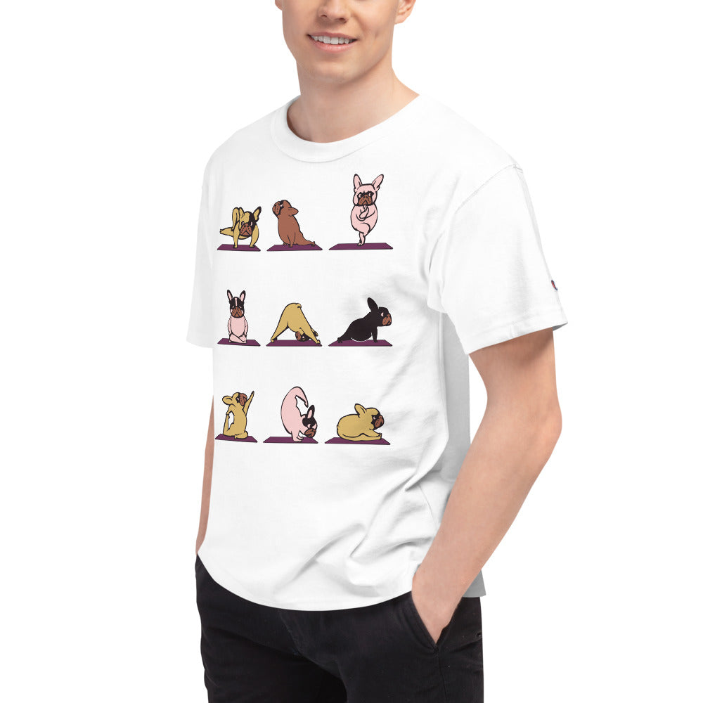 French Bulldog Yoga Men's Champion T-Shirt