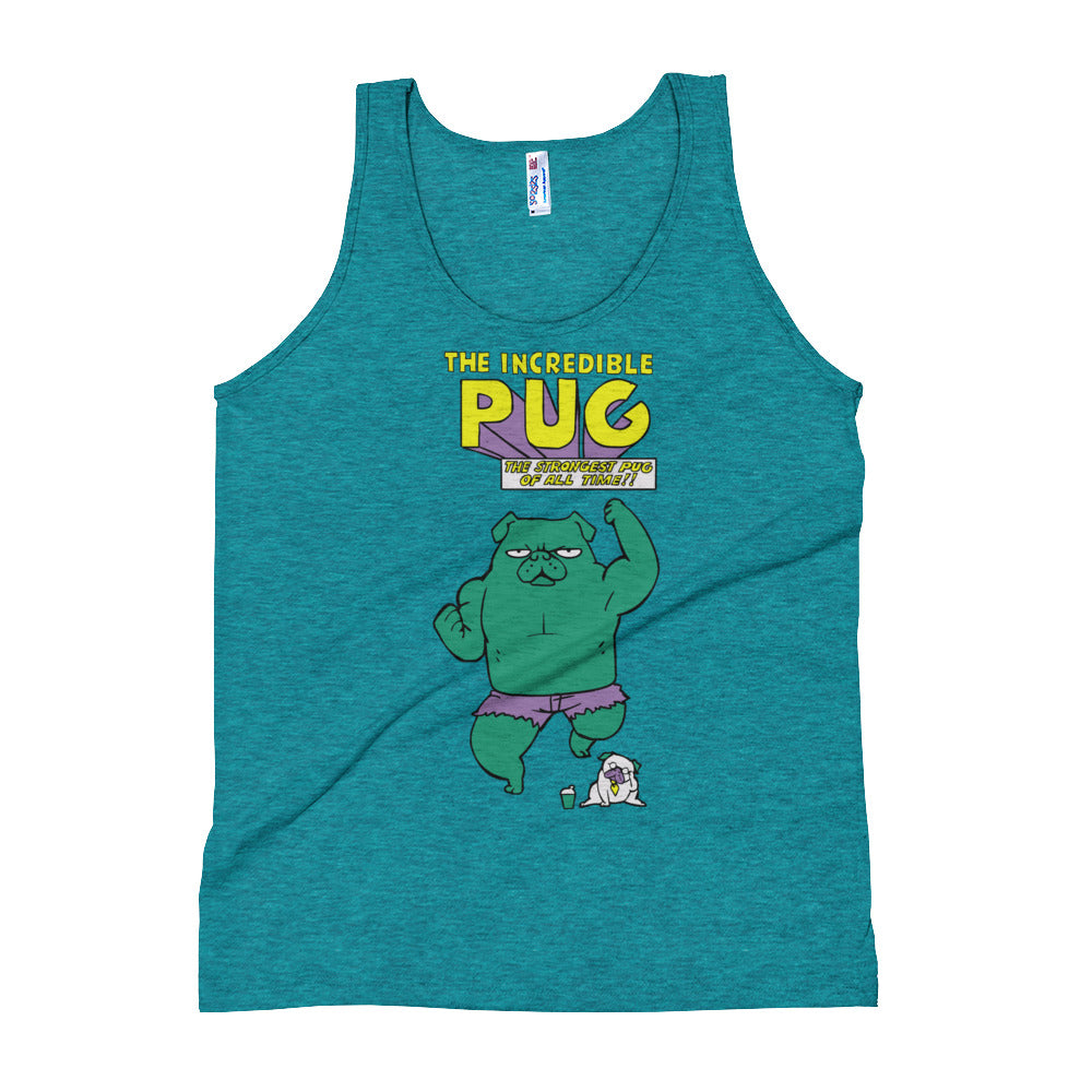 The Incredible Pug Unisex Tank Top