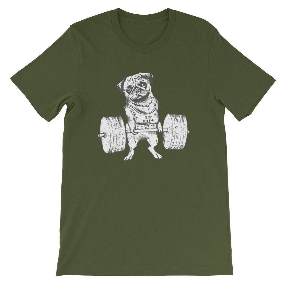 Pug Lift Short-Sleeve Unisex T-Shirt