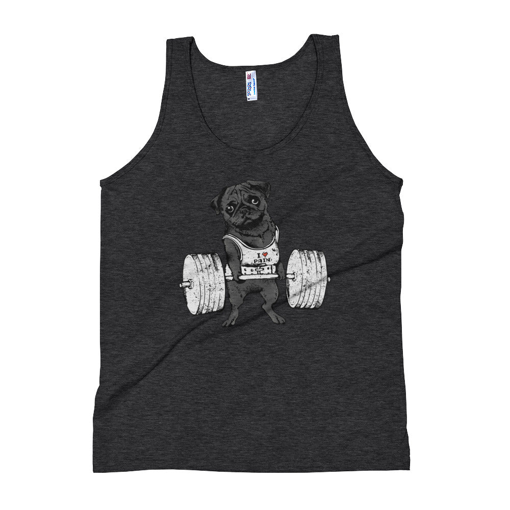 Black Pug Lift Unisex Tank Top