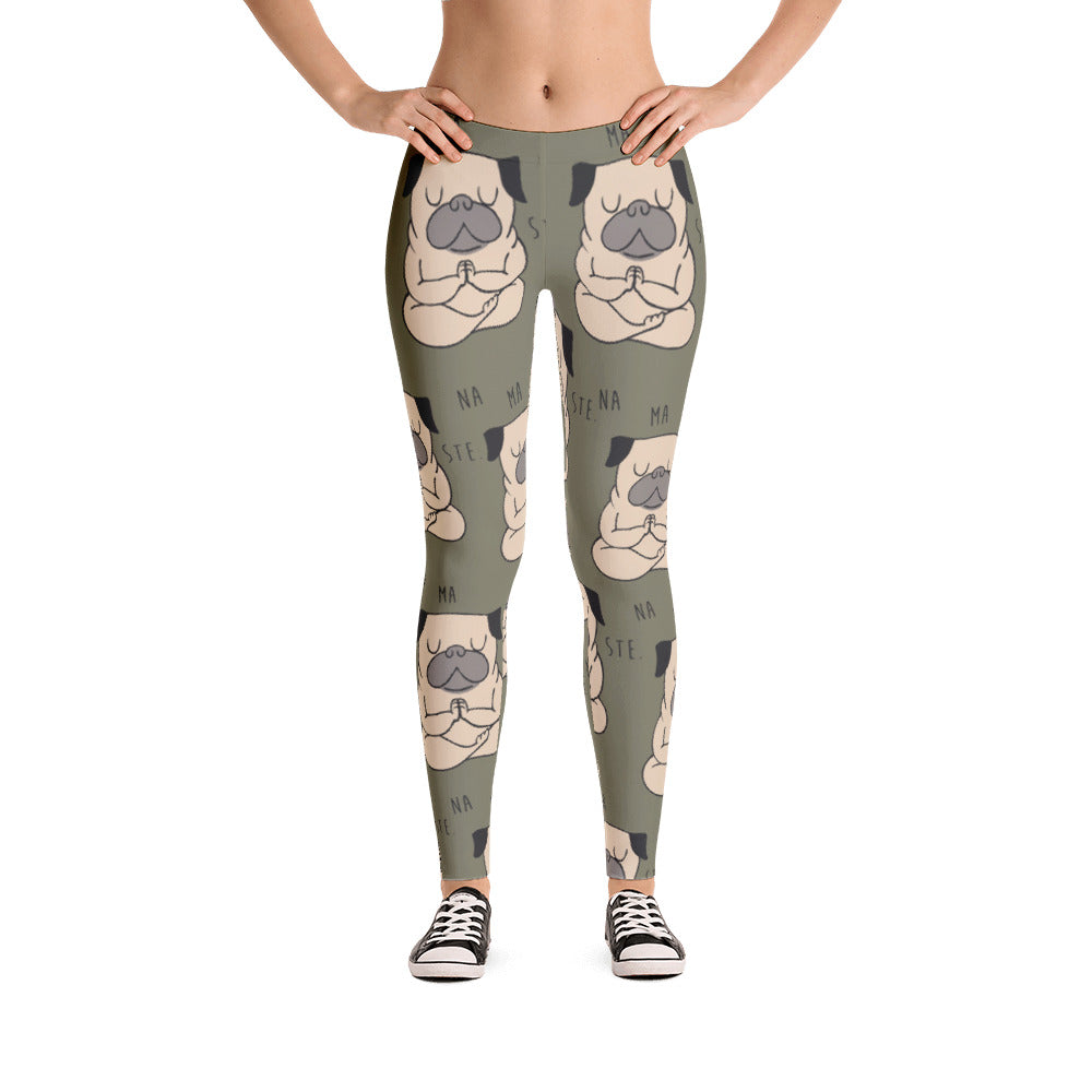 Namaste Pug Leggings