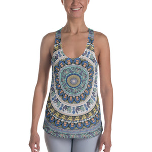 French Bulldog Yoga Medallion  Women's Racerback Tank