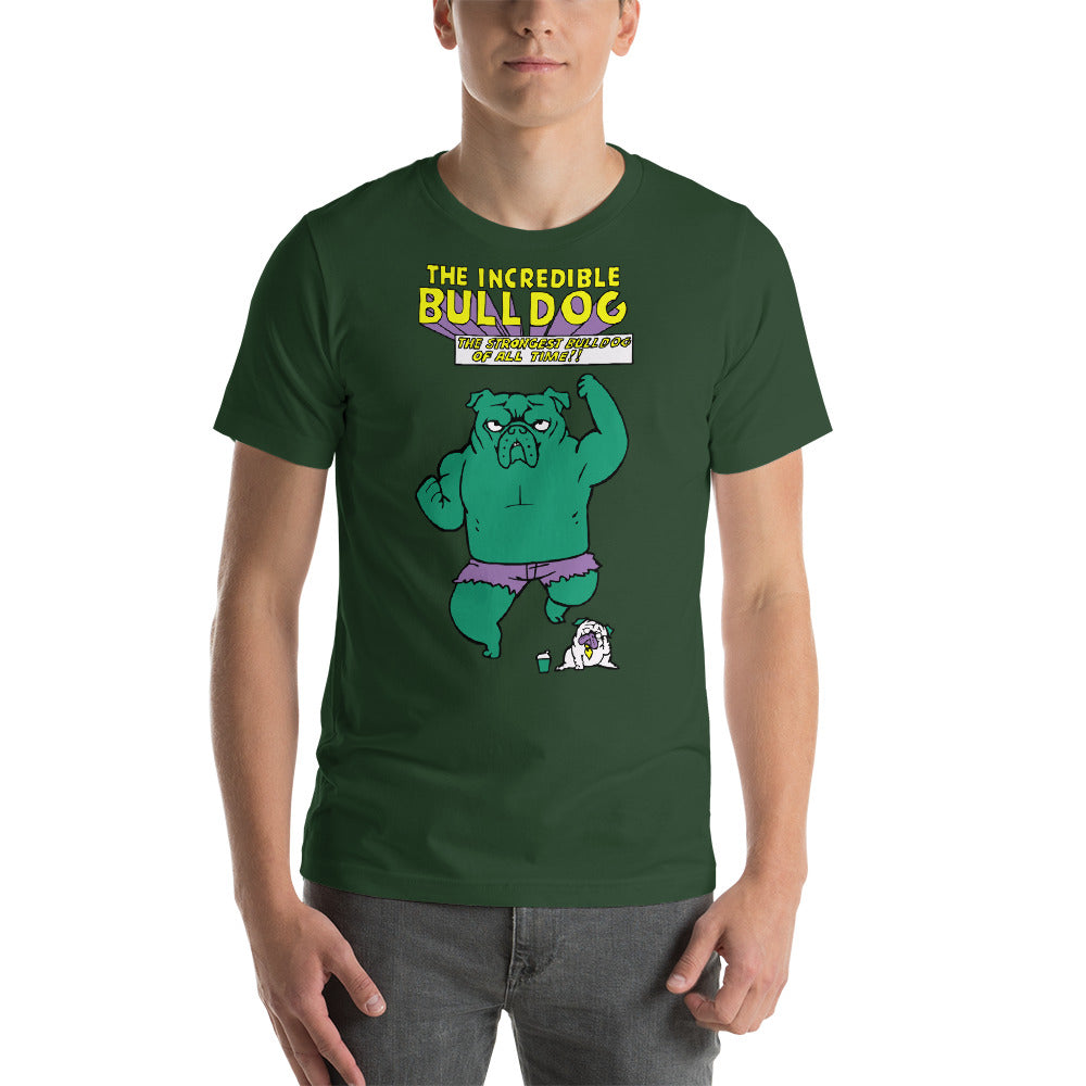 The Incredible English Bulldog Short-Sleeve Unisex T-Shirt