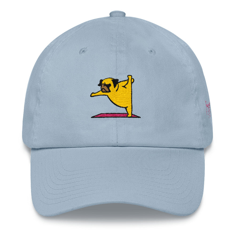 Pug Yoga Lord of the Dance Dad hat