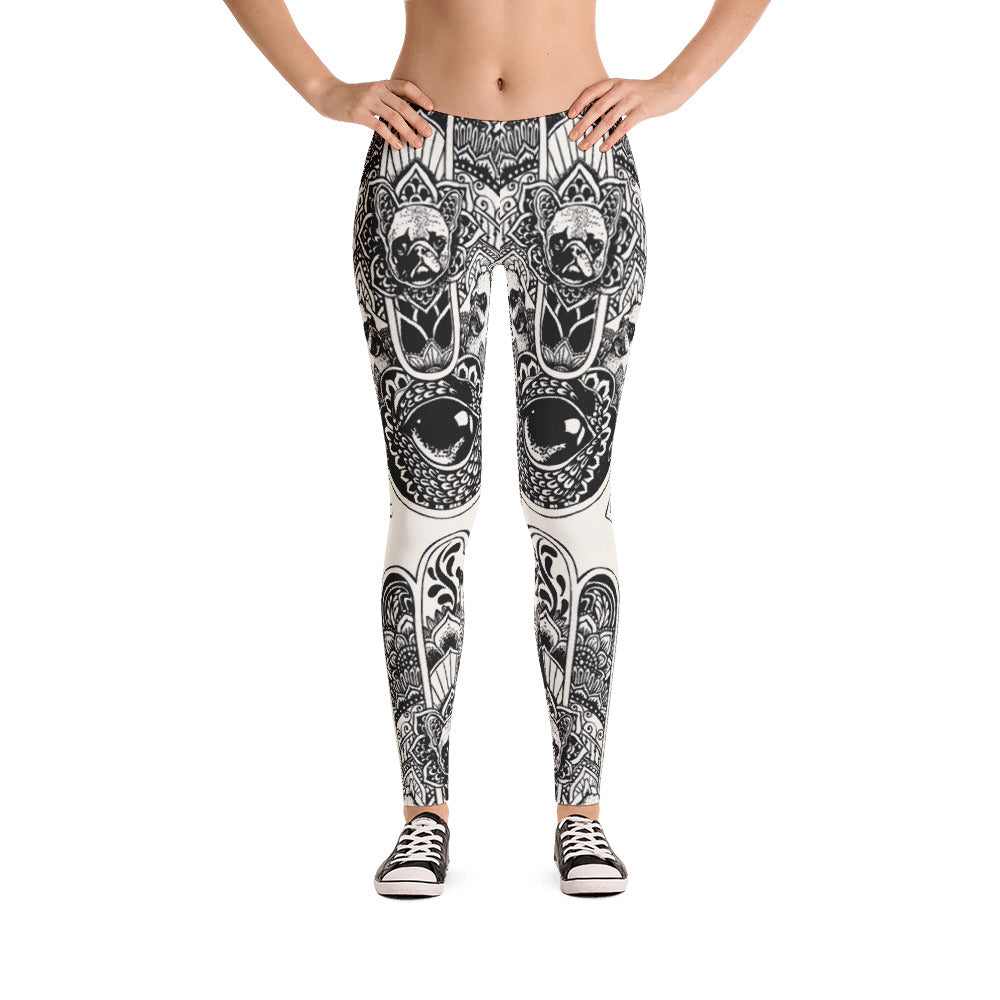 Hamsa Hand French Bulldog Leggings