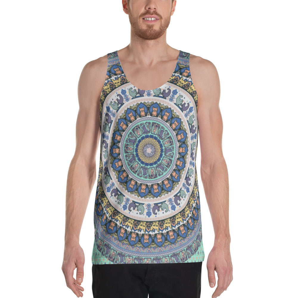 French Bulldog Yoga Medallion Unisex Tank Top