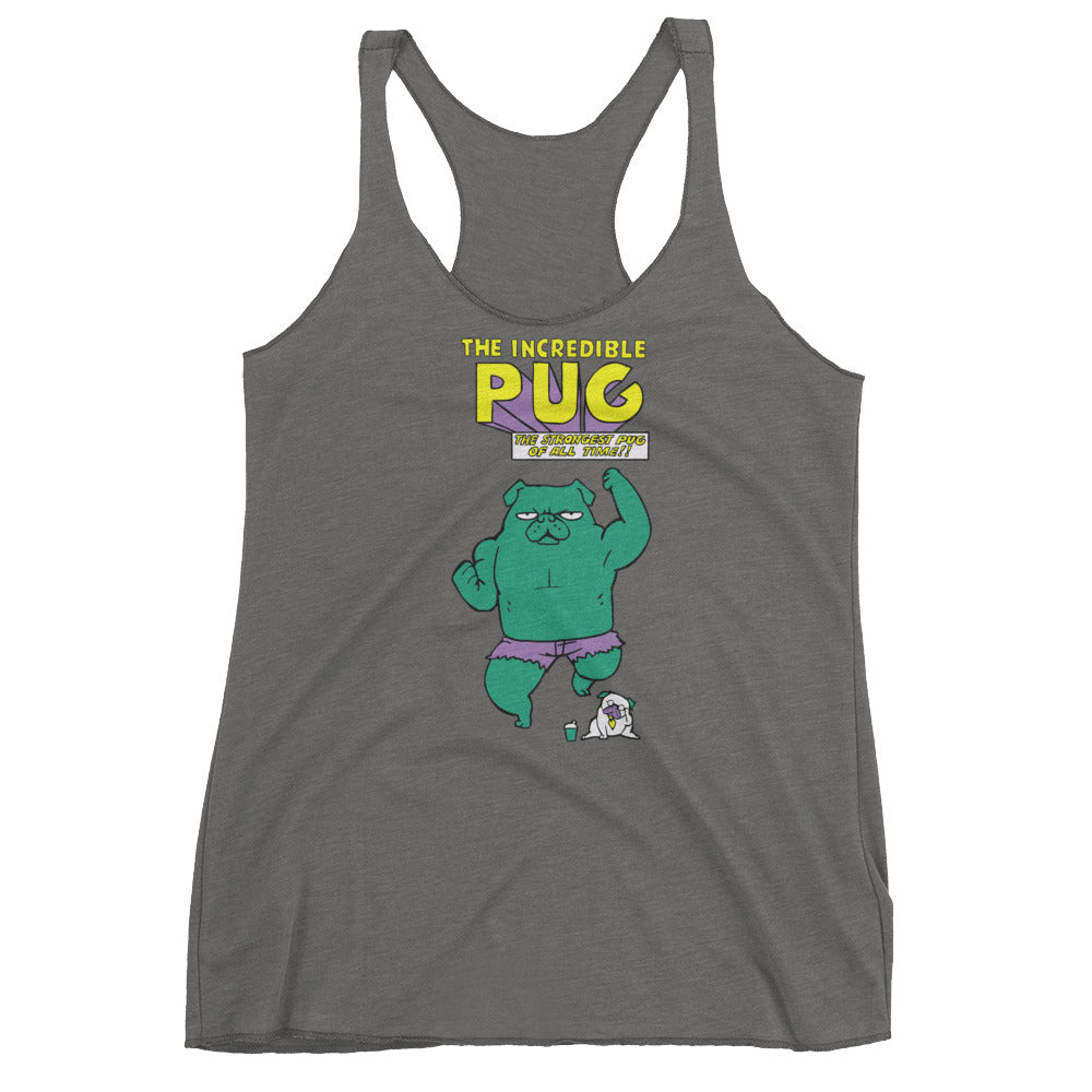 The Incredible Pug Women's Racerback Tank