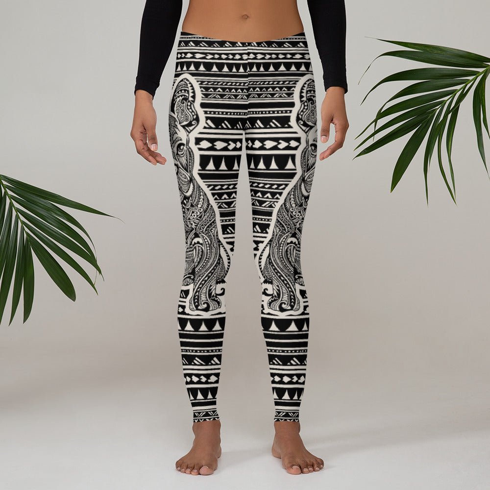 Polynesian Frenchie Leggings