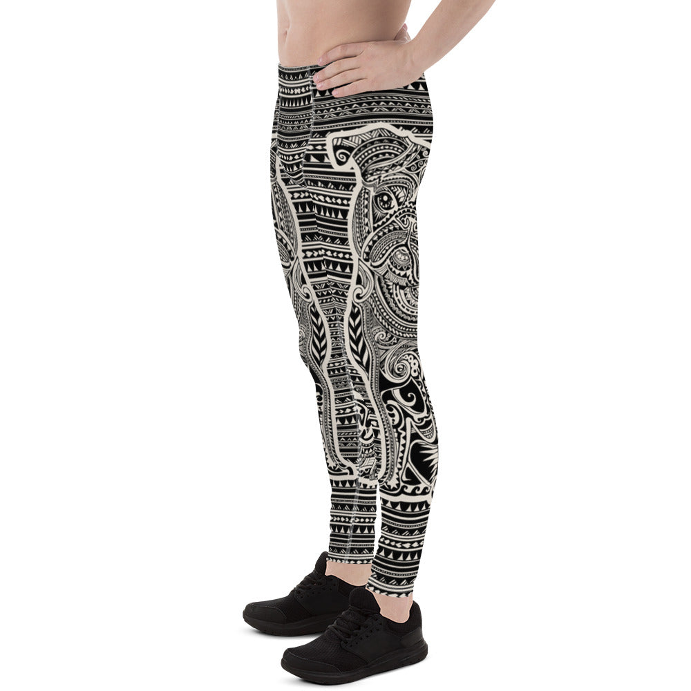 Polynesian Pug  Men's Leggings