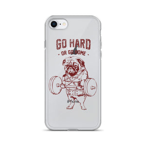 Go Hard Or Go Home Pug iPhone Case