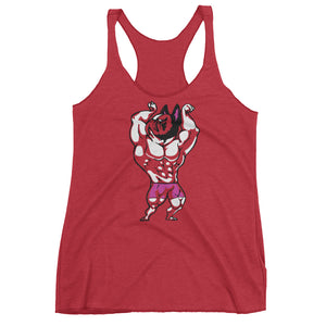 French Bulldog  Bodybuilder Women's Racerback Tank