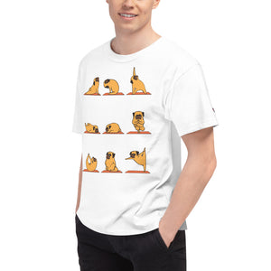 Pug Yoga Men's Champion T-Shirt