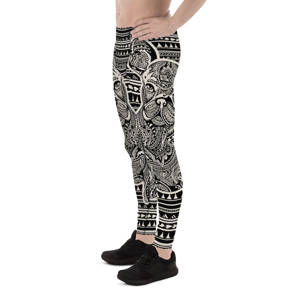 Polynesian Frenchie Men's Leggings