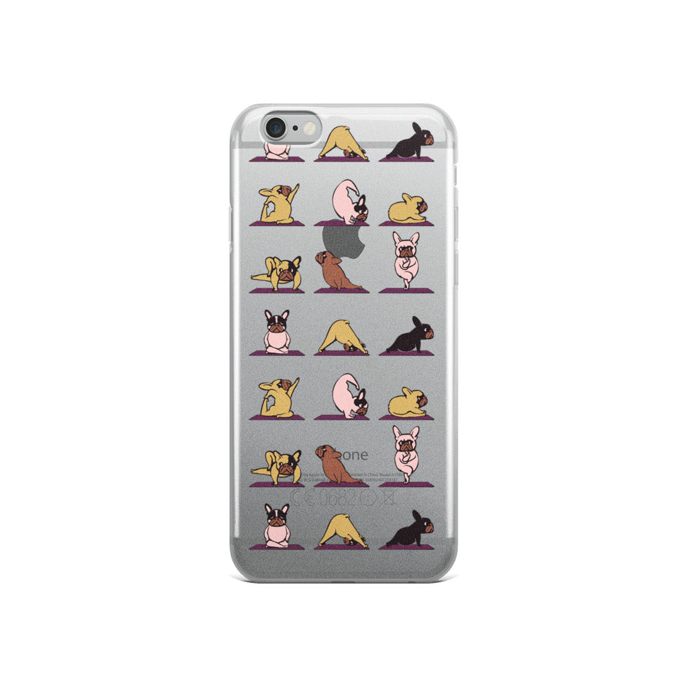 bulldog yoga iphone case