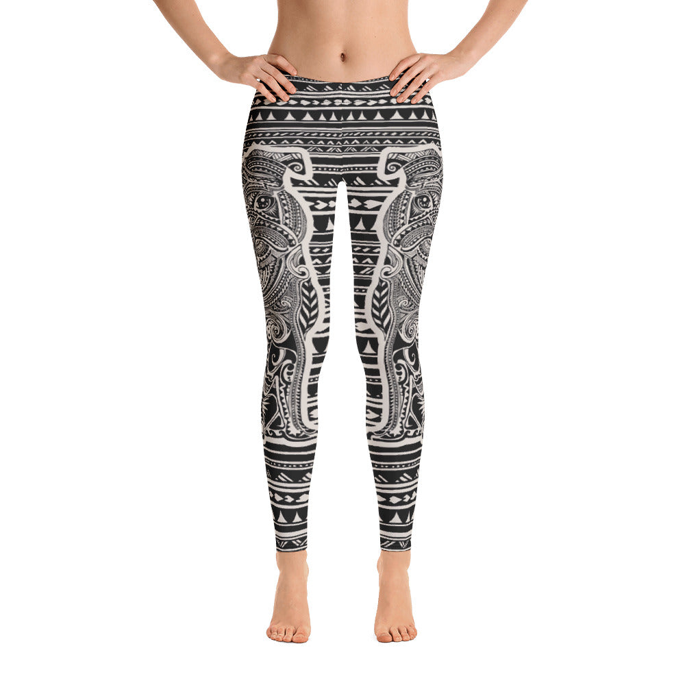 Polynesian Pug Leggings