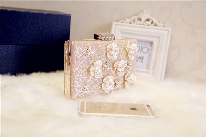 Ins Super Fire New Flower Diamond Handbag