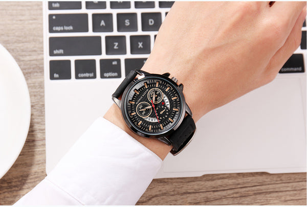 Men's Sports Breathable Belt Quartz Watch