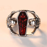 M Retro Alternative Punk Style Creative Mens Ring (COD)