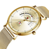 T New business double calendar quartz watch(COD) - Yinaje