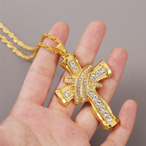 M Domineering 3D Cross Style Necklace(COD)