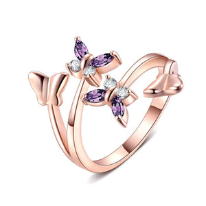 T Butterfly ring (can be resized)(COD) - Yinaje